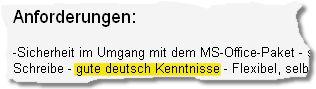 Ausriss aus einer Bild.de-Stellenanzeige (Quelle: Bildblog.de)