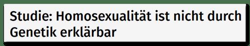 Studie: Homosexualität ist nicht durch Genetik erklärbar