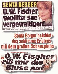 SENTA BERGER: O. W. Fischer wollte sie vergewaltigen!