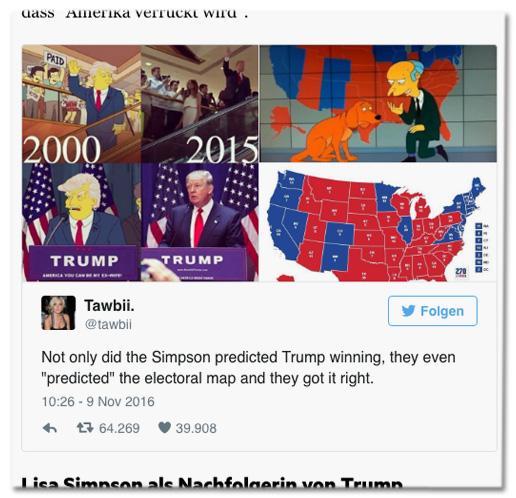 Trump Simpsons Vorhersage