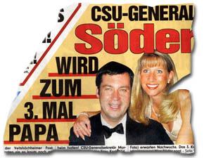 """""""CSU-General Söder wird zum 3. Mal Papa"""""""