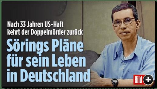 Screenshot Bild.de - Nach 33 Jahren US-Haft kehrt der Doppelmörder zurück - Sörings Pläne für sein Leben in Deutschland