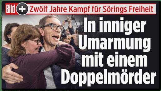 Screenshot Bild.de - Zwölf Jahre Kampf für Sörings Freiheit - In inniger Umarmung mit einem Doppelmörder
