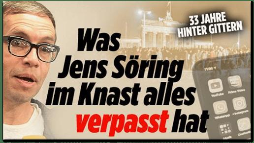 Screenshot Bild.de - 33 Jahre hinter Gittern - Was Jens Söring im Knast alles verpasst hat
