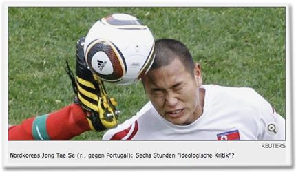 """Nordkoreas Jong Tae Se (r., gegen Portugal): Sechs Stunden """"ideologische Kritik""""?"""