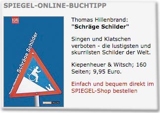 Spiegel-Online-Buchtipp: Schräge Schilder