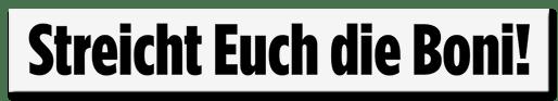 Screenshot BILD.de: Streicht Euch die Boni!