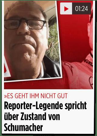 Screenshot Bild.de - Es geht ihm nicht gut - Reporter-Legende spricht über Zustand von Schumacher
