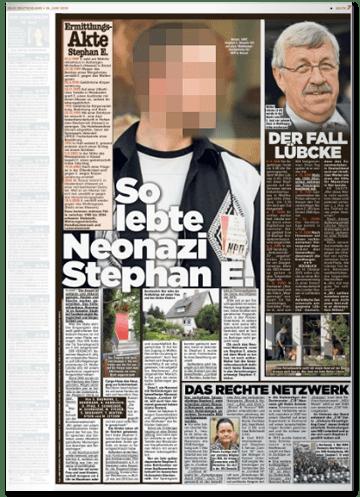 Ausriss Bild-Zeitung - So lebte Neonazi Stephan E.