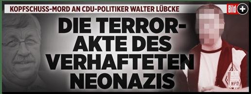 Screenshot Bild.de - Die Terror-Akte des verhafteten Neonazis