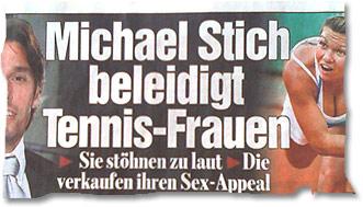 Michael Stich beleidigt Tennis-Frauen