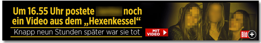Screenshot Bild.de - Um 16.55 Uhr postete J. noch ein Video aus dem Hexenkessel - Knapp neun Stunden später war sie tot