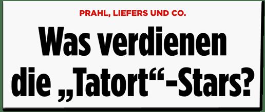 Screenshot Bild.de - Prahl, Liefers und Co - Was verdienen die Tatort-Stars?