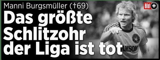 Screenshot Bild.de - Manni Burgsmüller - Das größte Schlitzohr der Liga ist tot