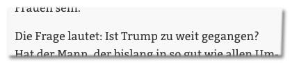 Screenshot Stuttgarter Nachrichten - Die Frage lautet: Ist Trump zu weit gegangen?