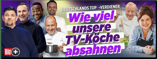 Screenshot Bild.de - Deutschlands Topf-Verdiener - Wie viel unsere TV-Köche absahnen