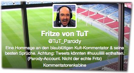 Eine Hommage an den blaublütigen Kult-Kommentator & seine besten Sprüche. Achtung: Tweets könnten #huuuiiiiii enthalten. (Parody-Account. Nicht der echte Fritz)