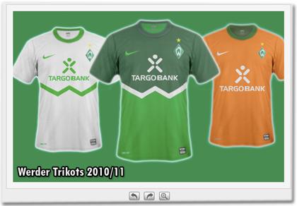 Werder Trikots 2010/11 (Fake)
