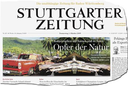 Stuttgarter Zeitung Titelblatt 430