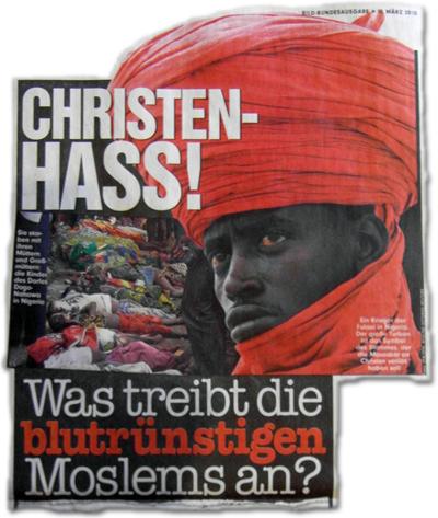 Christenhass! Was treibt die blutrünstigen Moslems ab?