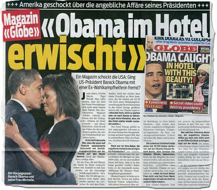 """""""Obama im Hotel erwischt"""