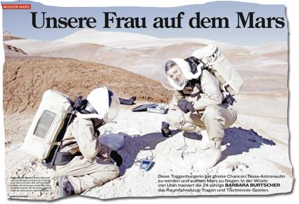 Unsere Frau auf dem Mars