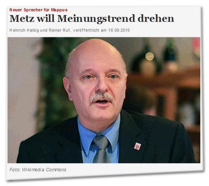Neuer Sprecher für Mappus: Metz will Meinungstrend drehen - Foto: Wikimedia Commons