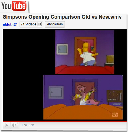 Simpsons Opening Comparison Old vs New