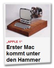 Apple 1 - Erster Mac kommt unter den Hammer