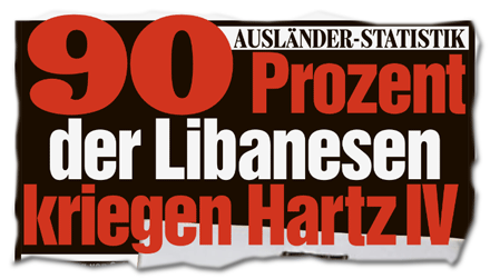 Ausländer-Statistik: 90 Prozent der Libanesen kriegen Hartz IV