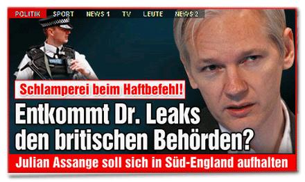 Jagd auf Wikileaks-Chef Julian Assange: Entkommt er wegen einer Behörden-Schlamperei?