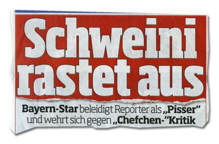 Schweini rastet aus - Bayern-Star beleidigt Reporter als Pisser und wehrt sich gegen Chefchen-Kritik