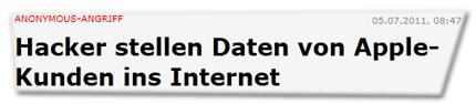 Hacker stellen Daten von Apple-Kunden ins Internet