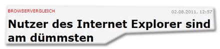 Nutzer des Internet Explorer sind am dümmsten