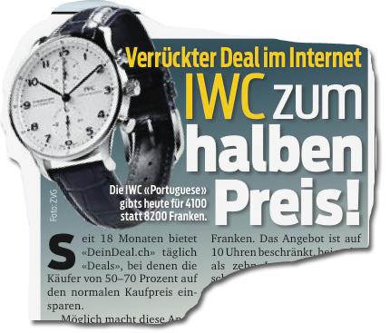 IWC zum halben Preis!