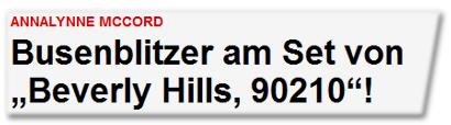 """Busenblitzer am Set von """"Beverly Hills, 90210""""!"""