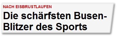 Die schärfsten Busen-Blitzer des Sports