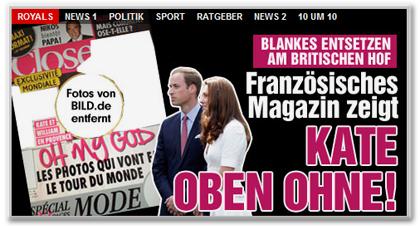 Französisches Magazin zeigt Kate oben ohne!