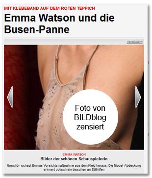 Emma Watson und die Busen-Panne