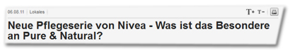 Neue Pflegeserie von Nivea - Was ist das Besondere an Pure & Natural?