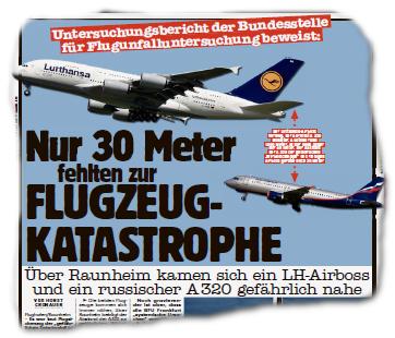 Nur 30 Meter fehlten zur Flugzeug-Katastrophe