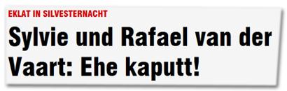 Sylvie und Rafael van der Vaart: Ehe kaputt!
