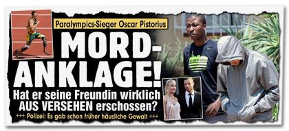 Paralympics-Sieger Oscar Pistorius - MORDANKLAGE! Hat er seine Freundin wirklich AUS VERSEHEN erschossen?
