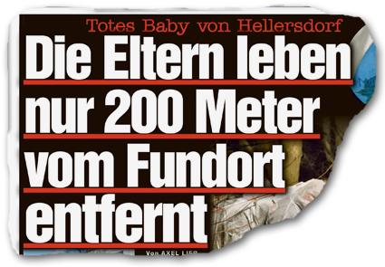 Totes Baby von Hellersdorf - Die Eltern leben nur 200 Meter vom Fundort entfernt