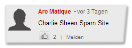 [Kommentar:] Charlie Sheen Spam Site