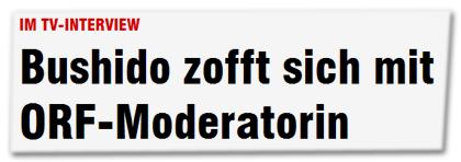 Im TV-Interview - Bushido zofft sich mit ORF-Moderatorin
