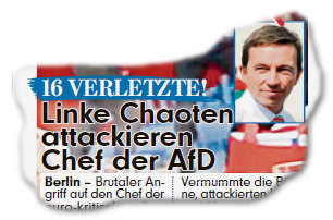 16 Verletzte! Linke Chaoten attackieren Chef der AfD