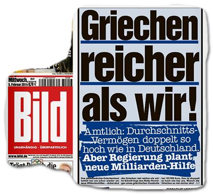 Griechen reicher als wir! - Amtlich: Durchschnitts-Vermögen doppelt so hoch wie in Deutschland. Aber Regierung plant neue Milliarden-Hilfe
