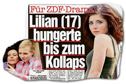 Für ZDF-Drama - Lilian (17) hungerte bis zum Kollaps
