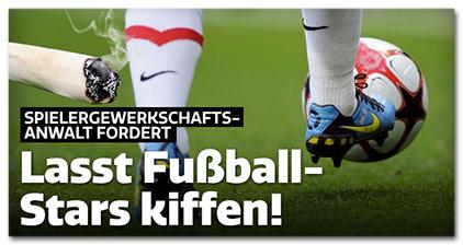 Spielergewerkschafts-Anwalt fordert: Lasst Fußball-Stars kiffen!